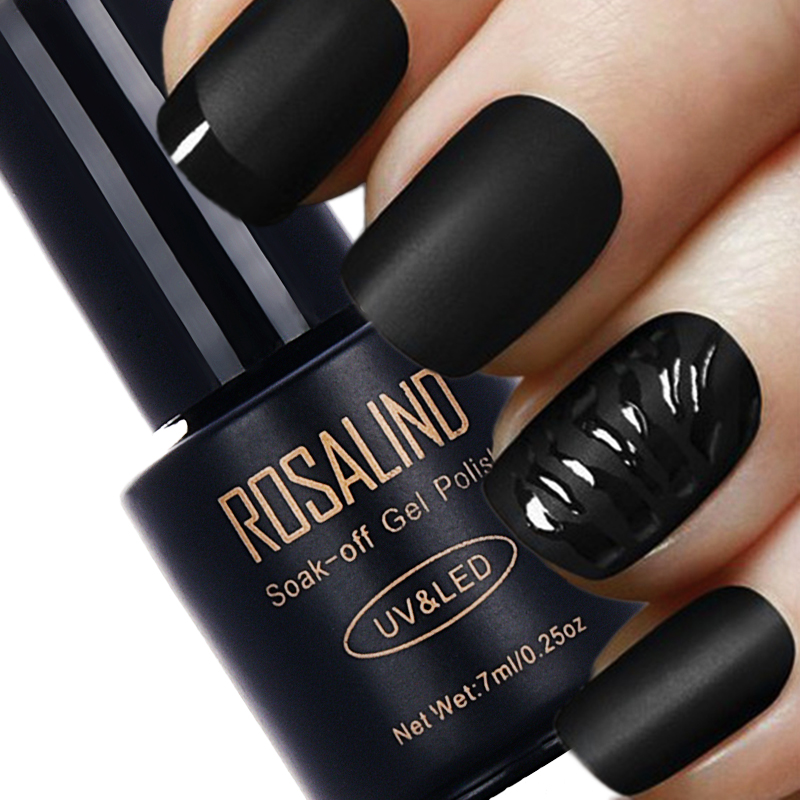 ROSALIND 7ML Matt Top Coat Nail Polish Lacquer Nail Gel Polish Vernis Semi Permanent Soak Off UV Gel Nail Polish