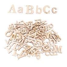 52 sztuki niepomalowane A-Z alfabet duże litery litery niedokończone drewno na zabawki edukacyjne dla dzieci