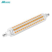 R7s base conduziu a luz j118 118mm bulbo de milho 3014 smd, 10w lâmpada de substituição de halogênio, ac220v lâmpada de poupança de energia branco quente