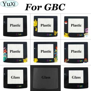 Glass Plastic Colors Screens for Gameboy Color Repair Accessories Lens Cover for GBC Console Lens Protector W/ Adhensive(China)