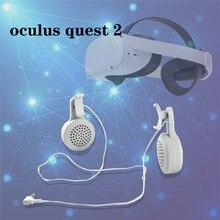 Para oculus quest 2 vr ajustável com fio fone de ouvido realidade virtual redução ruído fone de ouvido para oculus ques 2 acessórios