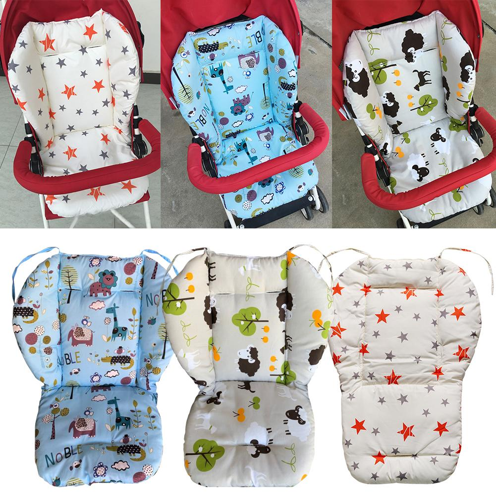 Durable Newborn Baby Stroller Chair Cushion Cotton Star Print Baby Stroller High Chair Seat Cushion Liner Mat Pad Cover Protecto