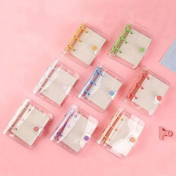 3 Hole Mini Transparent Loose Leaf Binder Notebook Inner Core Cover Note Book Journal Planner Office Stationery Supplies pvc simple and transparent day plan loose leaf binder loose corea5 a6 a7 note book bullet journal planner office school supplies
