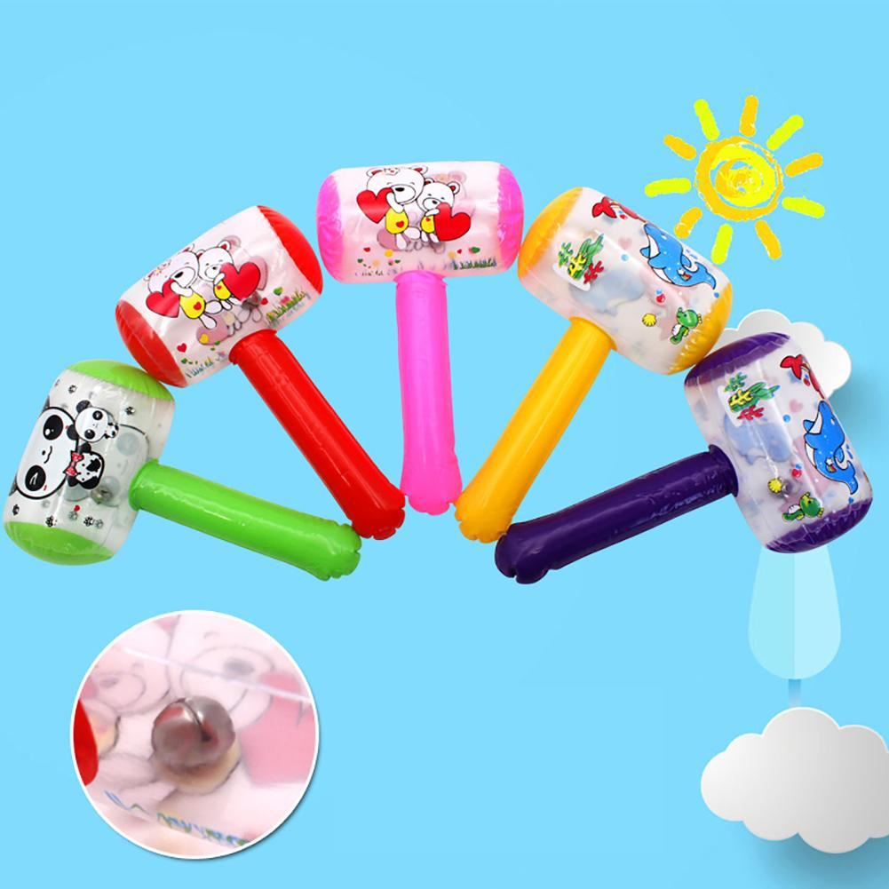 New Hot Cute Cartoon Inflatable Hammer Air Hammer With Kids Children Blow Up Noise Maker Toys Color Random