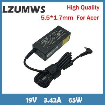 LZUMWSEU-adaptador de corriente para portátil, 19V, 3,42a, 65W, 5,5x1,7mm, para Acer Aspire...