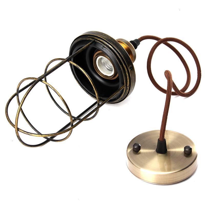 Винтажная Люстра для прихожей, железный подвесной светильник, светодиодный светильник для жилых помещений, кухонная люстра - 3
