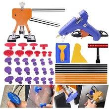 PDR tools Professional Dent Repair Lifter Car Body Dent Removal Kit Glue Gun and Sticks Paintless Dent Repair T-bar Puller стоимость
