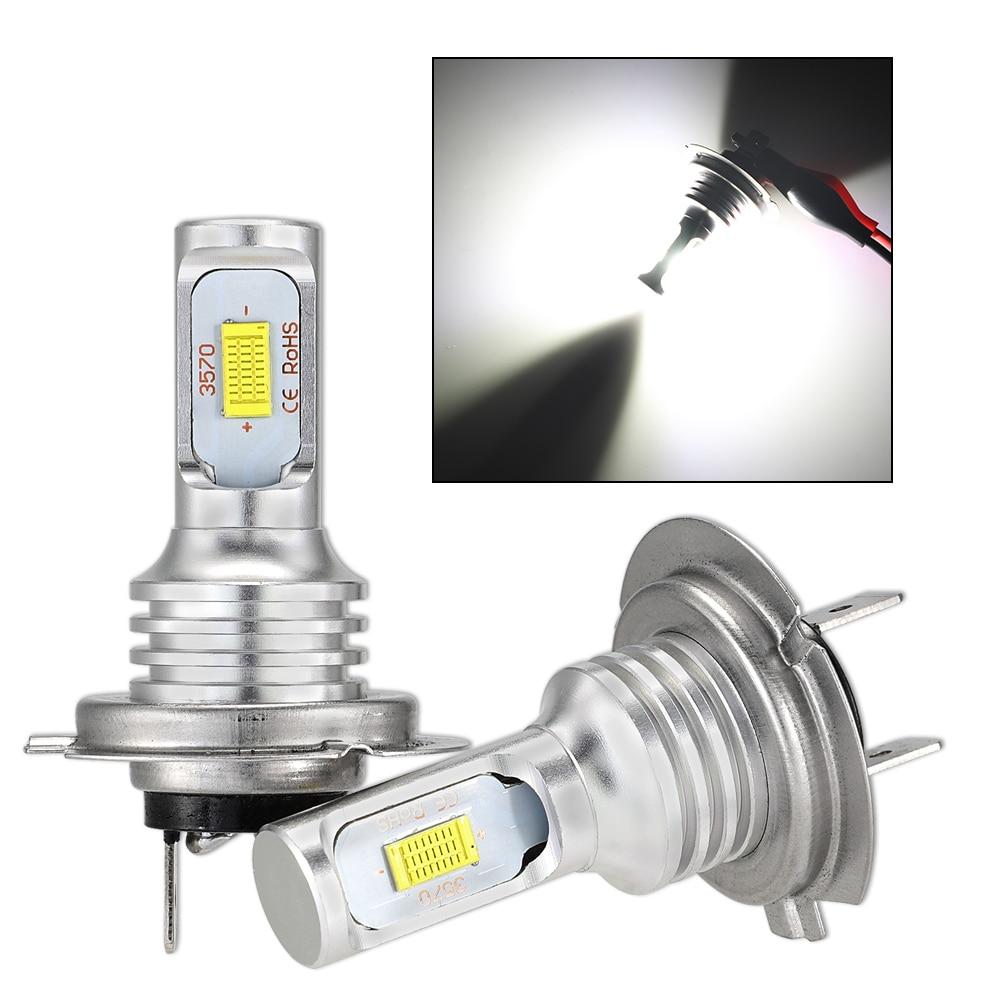 lampada de farol de led para motocicleta 100 w par 6500k branco lampada h7