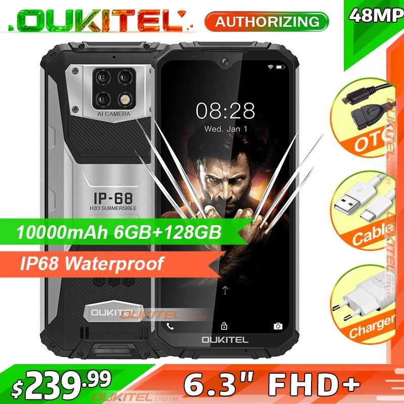 OUKITEL WP6 10000mAh 6.3'' FHD+ IP68 Waterproof Mobile Phone 6GB 128GB Octa Core 48MP Triple Cameras Rugged Smartphone(China)