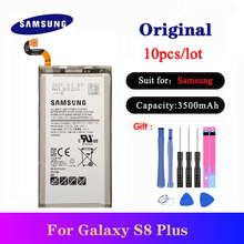 10pcs/lot EB-BG955ABA Original Battery For Samsung Galaxy S8 Plus S8+ G9550 SM-G9 SM-G955 Phone Bateria 3500mAh samsung orginal eb bg955aba eb bg955abe 3500mah battery for samsung galaxy s8 plus g9550 g955 g955f g955a g955t g955s g955p