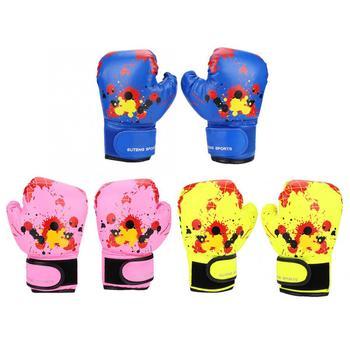 1 para oddychające rękawice bokserskie dla dzieci Karate Muay Thai Sanda PU skórzane rękawice bokserskie bokserskie rękawice treningowe dla dzieci tanie i dobre opinie FTVOGUE Dziecko CN (pochodzenie) Boxing Glove Other Boxing Gloves Kids Children Boxing Gloves Kids Boxing Gloves Kids Grappling Gloves