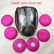 SJL 6800 maska gazowa przeciwkurzowe 7 sztuk garnitur pełna twarz ochronna Respirator te same 3M 6800 maska gazowa
