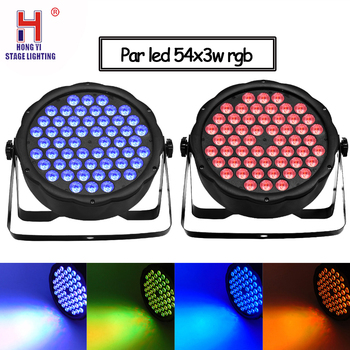 Party lights led flat par 54x3w disco lights dmx512 control RGB 3in1 par led professional dj disco equipment lighting 2pcs/lot