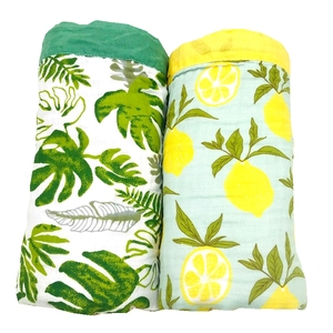 Image 3 - winter blanket lemon & rainforest 4 layer 100% cotton muslin baby blankets for newborn swaddle wrap bedding swaddling