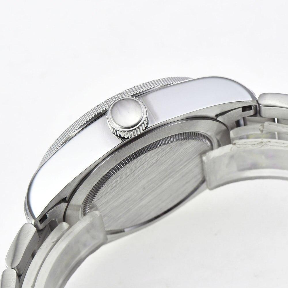 Corgeut 41 мм брендовые Роскошные мужские часы из нержавеющей стали, спортивные светящиеся водонепроницаемые мужские автоматические механичес... - 4