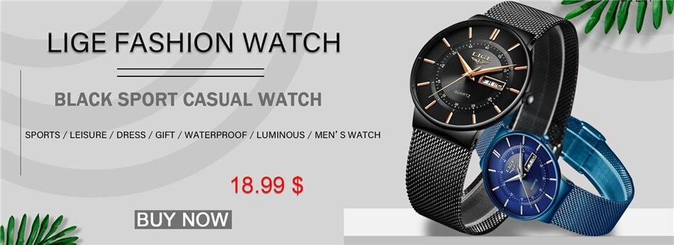 H9d33db63c8744649954d9d6a81c411d4e Mens Watches LIGE Top Brand Luxury Waterproof Ultra Thin Date Clock Male Steel Strap Casual Quartz Watch Men Sports Wrist Watch
