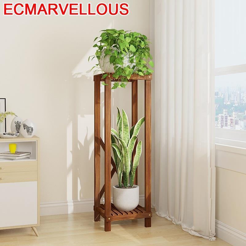 Flores Estante Para Plantas For Wood Scaffale Porta Piante Indoor Balcony Shelf Rack Dekoration Outdoor Flower Plant Stand|Plant Shelves| |  - title=