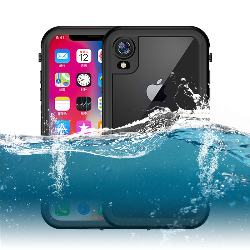 Luxury ShockProof Case For IPhone X XR XS Max Waterproof Case For IPhone 7 8 Plus 6 6S Plus Cover Outdoor Sport Swimming Coque