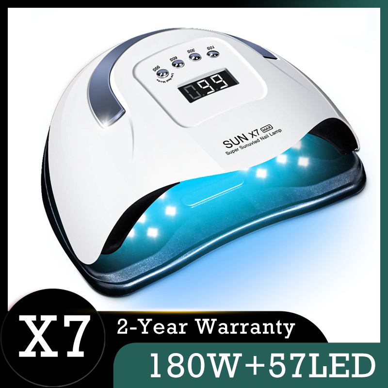 SUN X7 MAX Nail Lamp 180W 57LED UV Lamp Phototherapy Quick Dry Nail Polish Dryer Lamp Smart Professional Lamp for Manicure