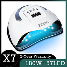 SUN X7 MAX Nail Lamp 180W Dryer Lamp for Nails 57 Bead UV LED Lamp Quick Dry Nail Polish Dryer Lamp Professional Manicure Lamp