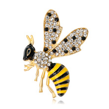 Fashion European And American Insect Brooch Upscale Personality Cartoon Bees Drops Of Oil Jewelry