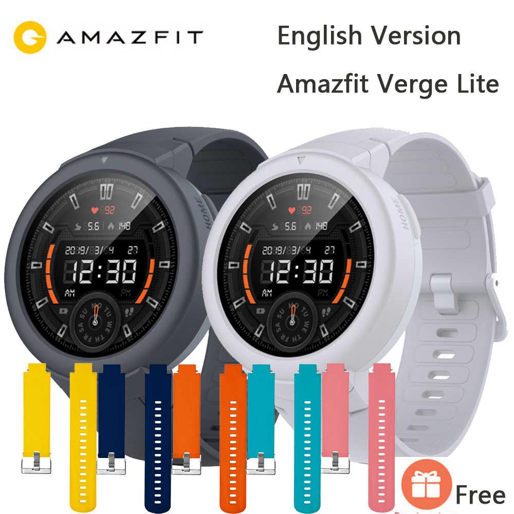 Versión inglesa AMAZFIT Verge Lite Smar twatch hombres 20 días batería de vida 1,3 pulgadas de Pantalla AMOLED incorporado GPS Monitor de ritmo cardíaco