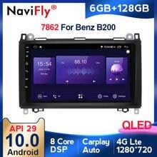 6G + 128G Qled Android 10 4G 2Din Multimedia Radio Speler Voor Mercedes Benz B200 Een B klasse W169 W245 Viano Vito W639 Sprinter W906