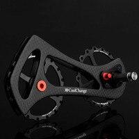 17T Bike Guide Wheel MTB Bike Bicycle Rear Derailleur Ceramic Bearing Carbon Fiber Guide Wheel