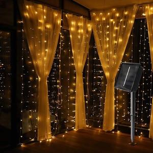 3X3M 300 LED Solar Curtain Str