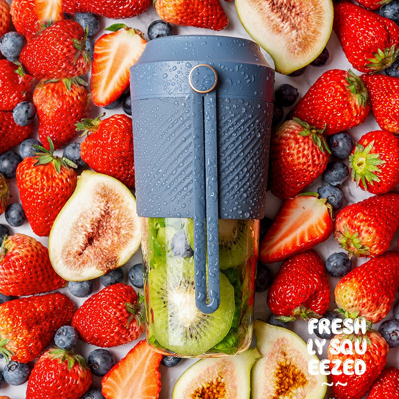 Juicer Portable Blender 400ML Fruit Cup Extracter 30s Juicing Mixer USB Magnetic Charging For Travel Home High Quality