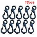 10 шт. мини брелок для ключей зажимы для ключей защелкивающийся крючок Карабин подвесные пряжки брелки опционально цвет