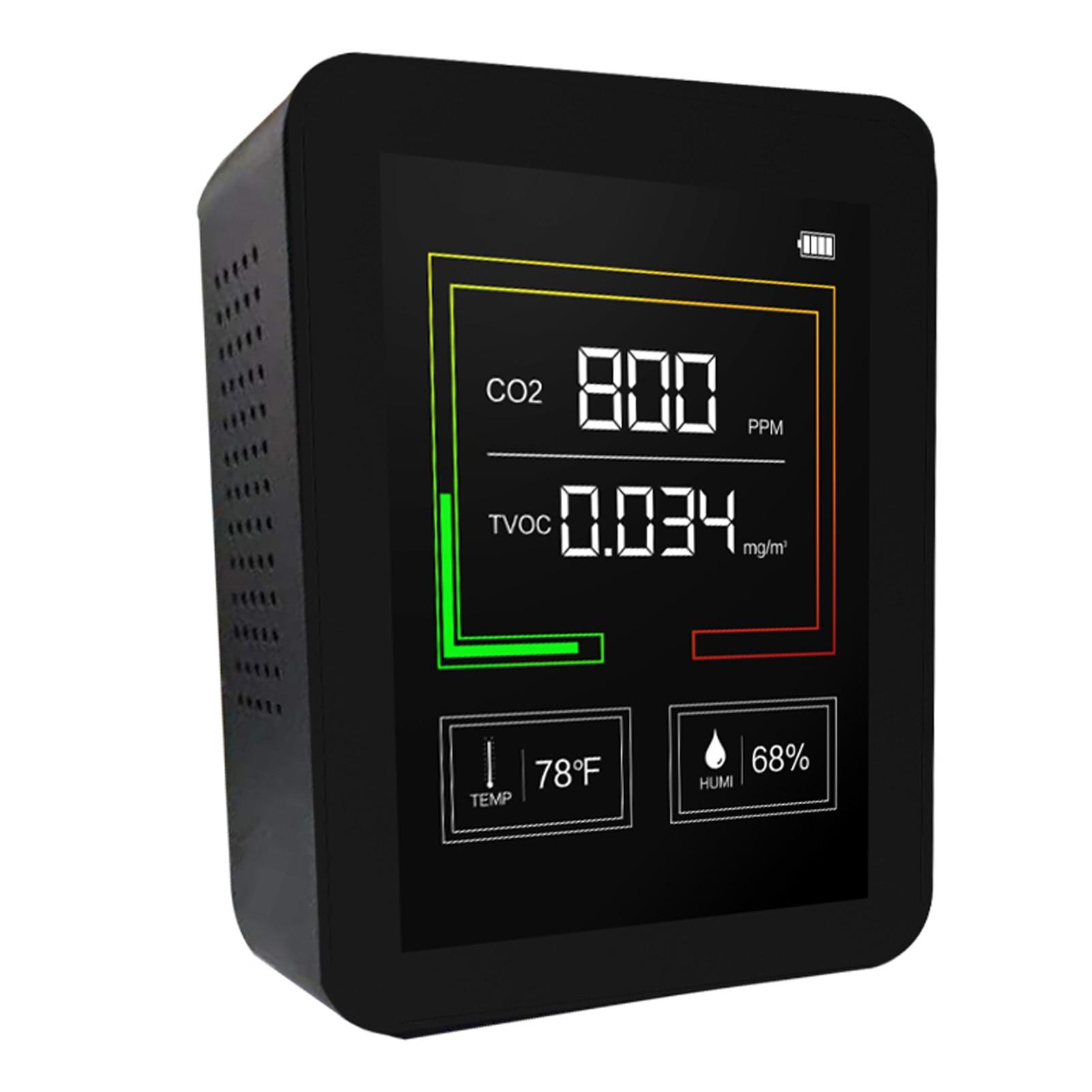 USB Перезаряжаемые CO2 Измеритель Качества Воздуха монитор углекислого газа Сенсор детектор TVOC концентрации Температура испытания влажности