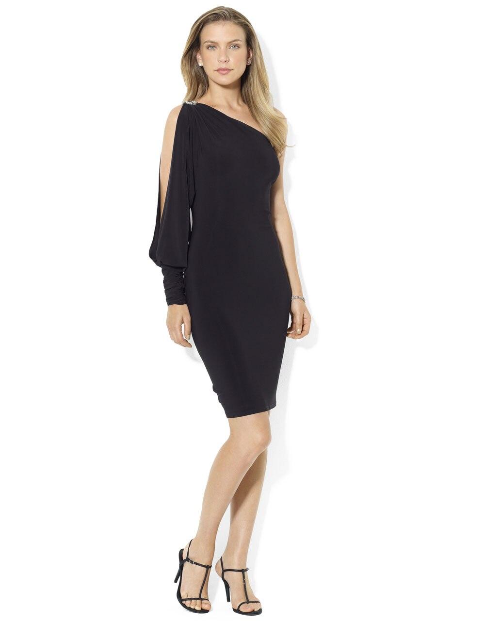 Vintage Black Chiffon One-Shoulder Plus Size Mother Of The Bride Dresses A-line Groom Godmother Evening Dresses Asymmentric