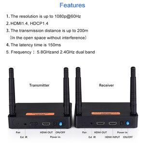 Image 2 - Measy FHD676 5.8GHz/2.4GHz bezprzewodowy nadajnik HD Extender nadajnik Full HD 1080p @ 60Hz 200m odbiornik transmisji Audio wideo