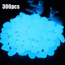 300pcs Glow in the Dark Garden Pebbles Glow Stones Rocks for Walkways Garden Path Patio Lawn Garden Yard Decor Luminous Stone(China)