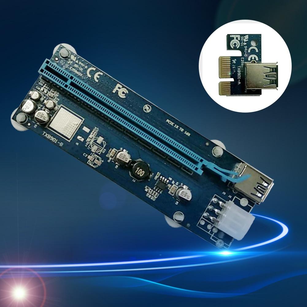 Converter Riser-Card-Adapter Notebook Bitcoin Miner Mining 16x-Extender Expansion Pci-E express