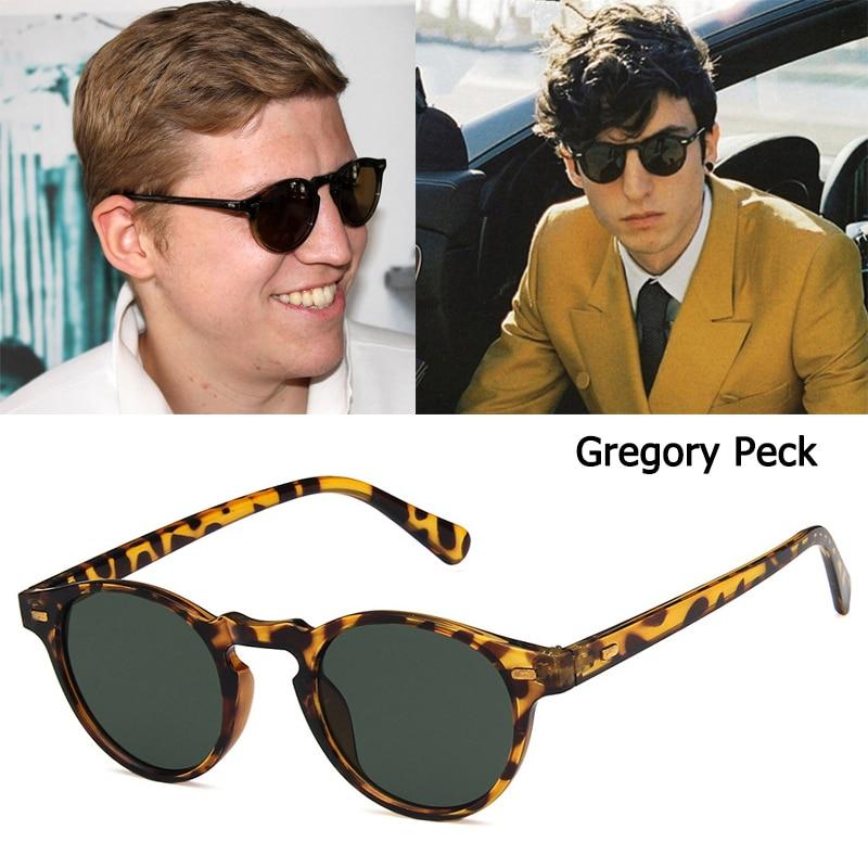 DPZ Fashion Gregory Peck Style Round Rivets Sunglasses Vintage Rivets Cool Brand Design Sun Glasses Oculos De Sol UV400