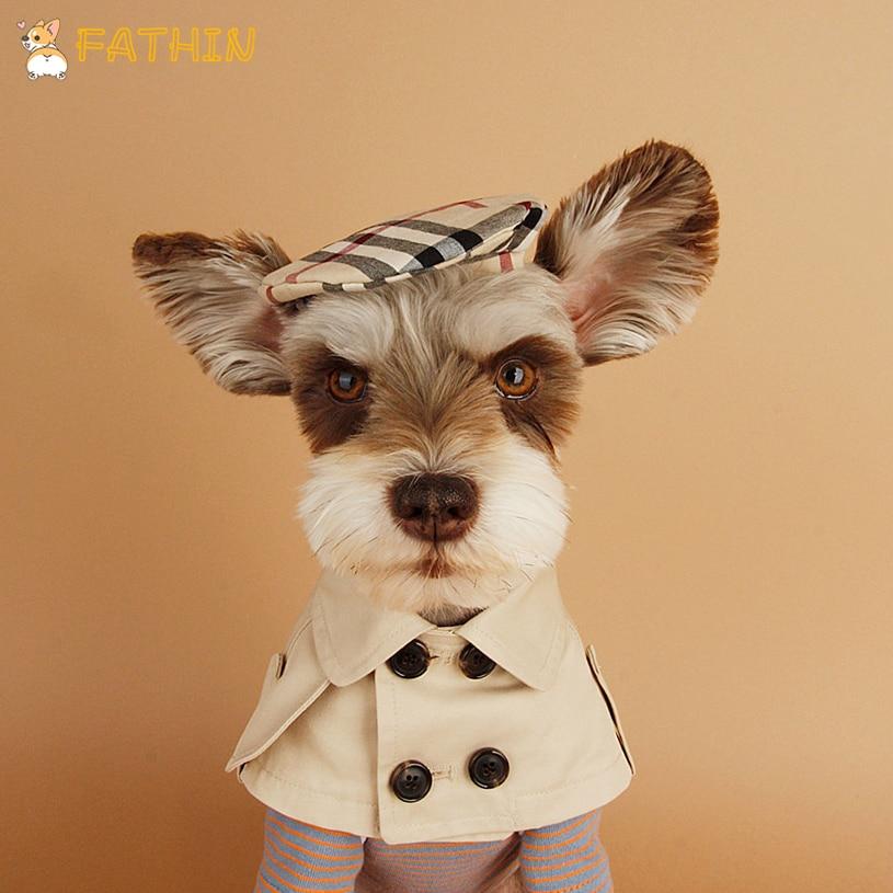 Модная одежда для собак, мягкая теплая одежда для домашних животных, одежда для кошек, накидка, шляпа, костюм для домашних животных, Тренч, одежда для детей 1 5 лет, 2019 Пальто и куртки для собак      АлиЭкспресс