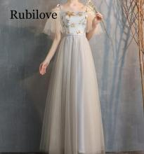 Rubilove Bridesmaid dress 2019 new female summer gray sister group bridesmaid temperament banquet graduation long se