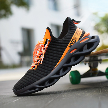 Summer Trend Style Men's Casual Shoes 2019 New Fashion Breathable Mesh Light Personality Sneakers Flying Weaving Tenis Masculino 1