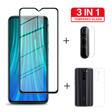 3 IN 1 Camera Glass for Xiaomi Redmi Note 8 Pro Transparent Case Screen Protector 7 POR