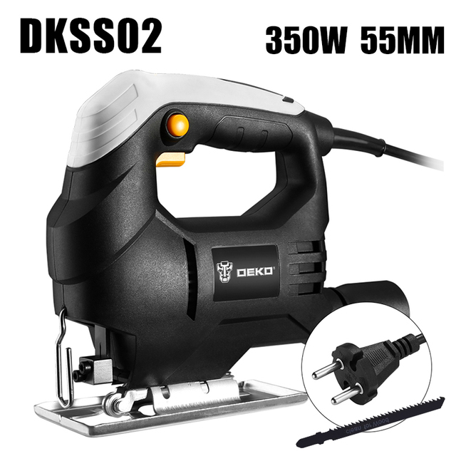 DEKO  Jig Saw Laser Electric Saw Metal Ruler, Allen Wrench Jigsaw Power Tools DKJS80Q1 800W/DKSS02 350W/DKJS80Q3 600W