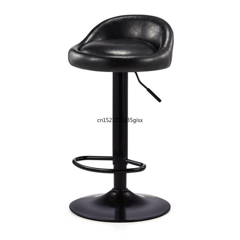 Bar Chair Modern Simple Bar Chair Lift And Rotate Front Desk Backrest Chair Household High Stand Bar Stool|  - title=