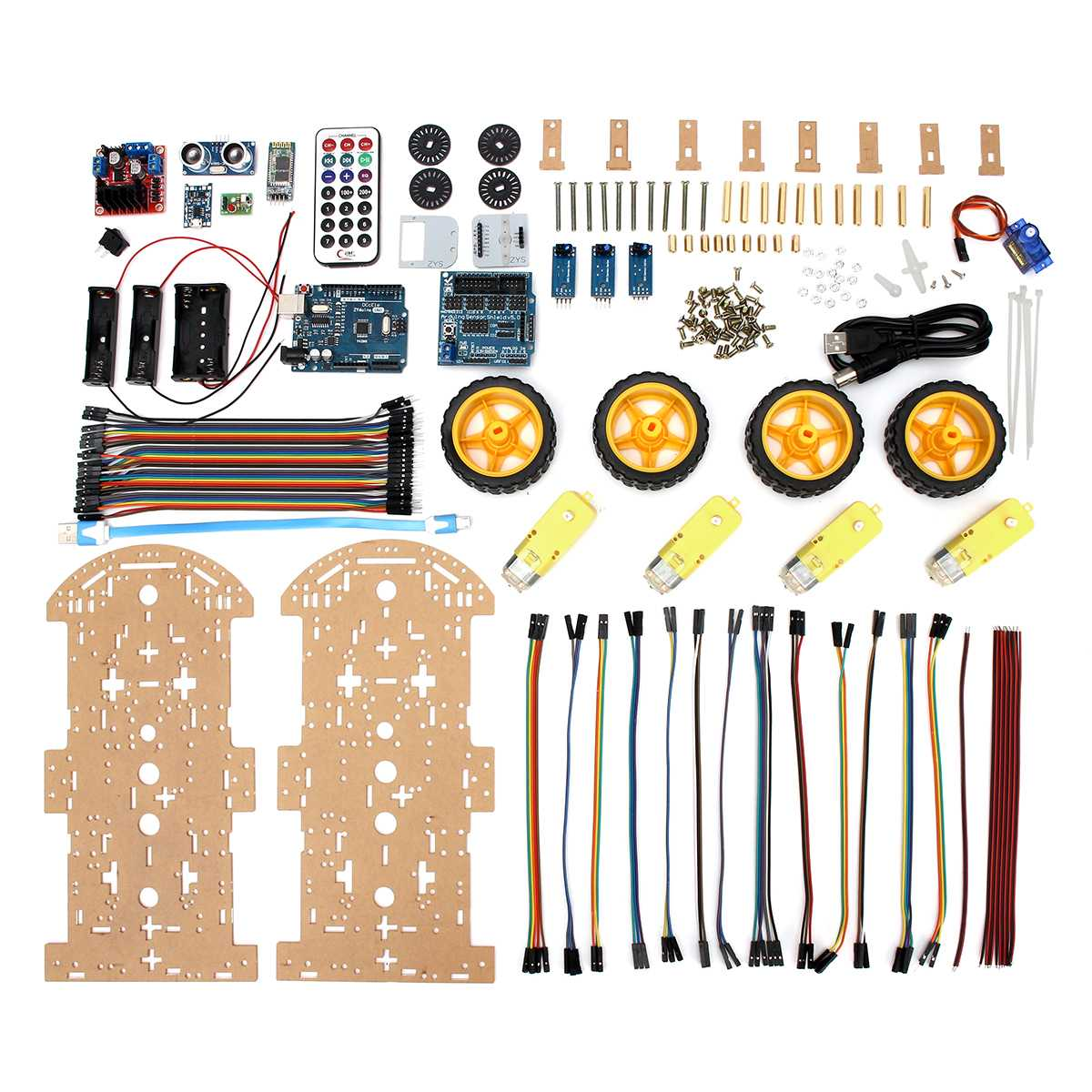 4WD Robot Smart Car Chassis Kits Avoidance Tracking Motor with Speed Encoder for Arduino DIY Education Robot Smart Car Kit