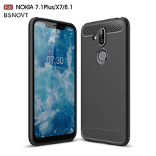 For Nokia 8.1 Case Soft Silicone Anti-knock Phone Cover X7 2018 / Funda