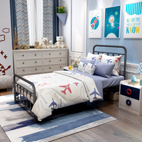 Victorian Style Metal Bed Frame Headboard Footboard Mattress Foundation Heavy Duty Twin Full Queen Bedroom Furniture Adult Beds
