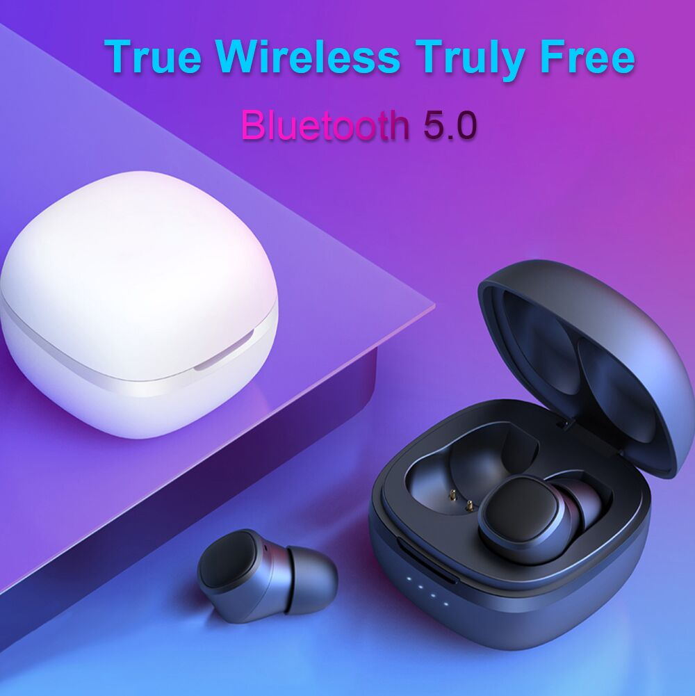 WELTEAYO T1X TWS Bluetooth Earphone AAC&SBC Mini Wireless Earbuds Stereo IPX6 Waterproof with Mic Headsets for iPhone Xiaomi
