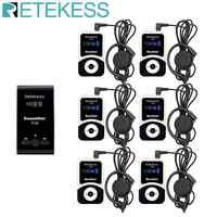 RETEKESS T130 Wireless Tour Guide System Audio Mikrofon System Für Kirche Übersetzung System Fabrik Tour Ausbildung Gericht