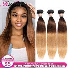 Straight Hair Bundles Honey Blonde Ombre Bundles 1B 4 27 Colored Human