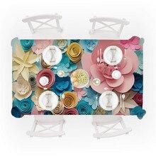 Mantel de mesa de flores Rectangular Primeval 3D mantel de mesa de flores Rectangular cubierta de mesa de té comedor decoración del hogar venta al por mayor # L5
